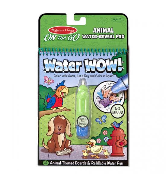Водная многоразовая раскраска: Animal water-reveal (животные)