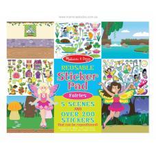 Многоразовые наклейки: Sticker Pad Fairies (феи) фото