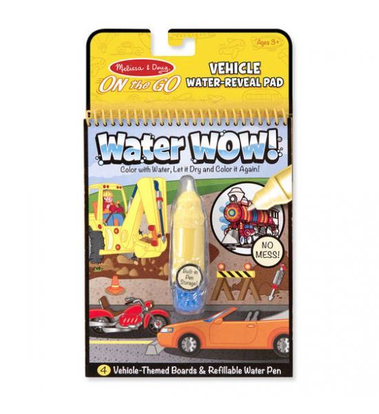 Водная многоразовая раскраска: Vehicle water-reveal (транспорт)