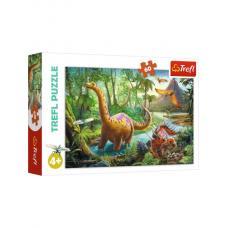 Пазлы.60 элементов. Миграция динозавров. фото