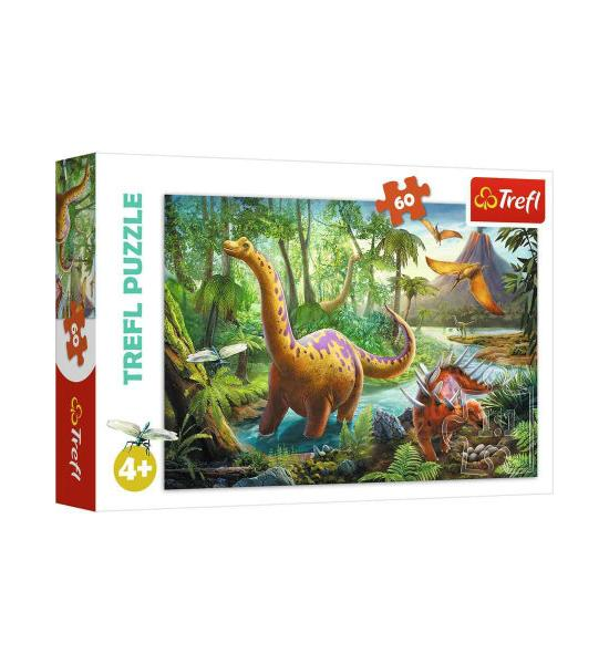 Пазлы.60 элементов. Миграция динозавров.
