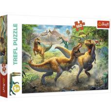 Пазлы.160 элементов. Битва тиронозавров фото