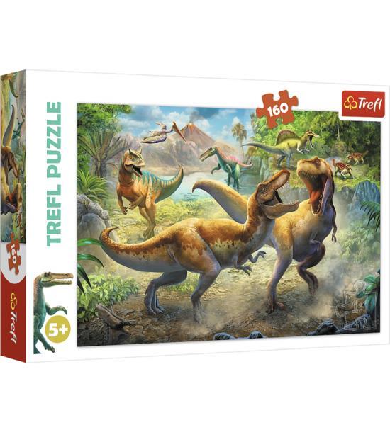 Пазлы.160 элементов. Битва тиронозавров