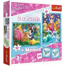 Пазлы. 2в1+ игра Мемо. Волшебный мир Дисней фото