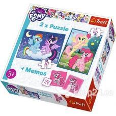 Пазлы. 2в1+ игра Мемо. My little poni фото