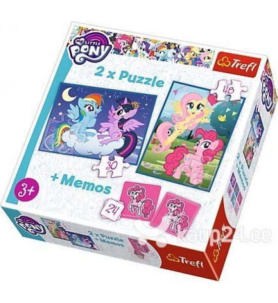 Пазлы. 2в1+ игра Мемо. My little poni