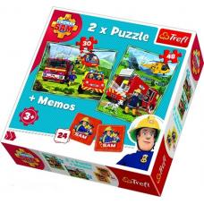 Пазлы. 2в1+ игра Мемо. Пожарники. Битва с огнем фото