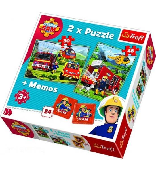 Пазлы. 2в1+ игра Мемо. Пожарники. Битва с огнем