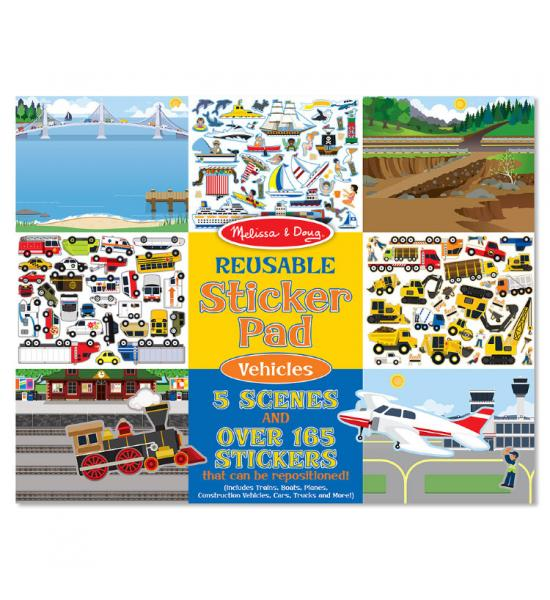 Многоразовые наклейки: Sticker Pad Vehicles (транспорт)