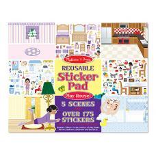 Многоразовые наклейки: Sticker Pad Play House (дом) фото