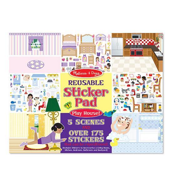 Многоразовые наклейки: Sticker Pad Play House (дом)